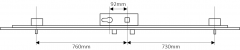 KFV AS4350 2 pin shootbolts multipoint lock