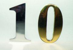 Self adhesive numerals