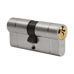 6 Pin Eurocylinder with Anti Snap Point: Dual Finish