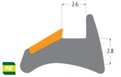 2.8mm rubber gasket for windows
